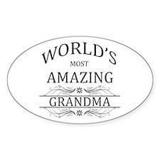 World's Most Amazing Grandma Decal