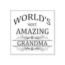 "World's Most Amazing Grandm Square Sticker 3"" x 3"""
