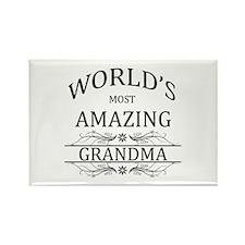 World's Most Amazing Grandma Rectangle Magnet