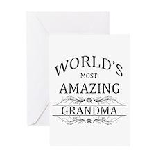 World's Most Amazing Grandma Greeting Card