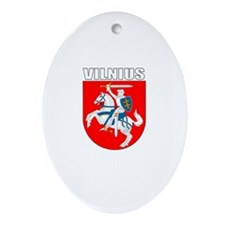 Vilnius, Lithuania Coat of Ar Oval Ornament