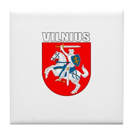 Vilnius, Lithuania Coat of Ar Tile Coaster