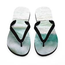Sandy Beach Shorebreak Hawaii Tropical Flip Flops