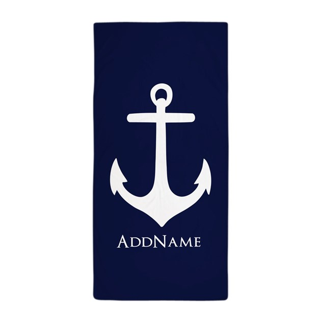 Nautical Anchor Personalized Beach Towel By Customgifts123