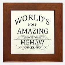 World's Most Amazing Memaw Framed Tile
