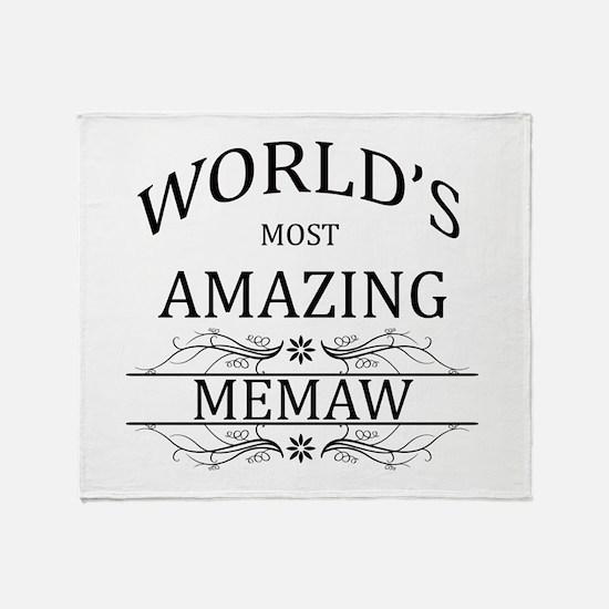 World's Most Amazing Memaw Throw Blanket