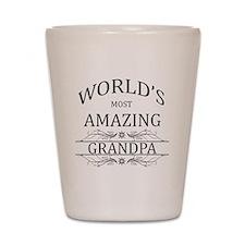 World's Most Amazing Grandpa Shot Glass