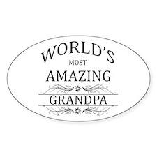World's Most Amazing Grandpa Decal