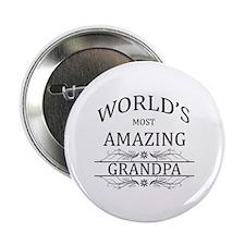 """World's Most Amazing Grandpa 2.25"""" Button"""