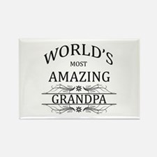 World's Most Amazing Grandpa Rectangle Magnet
