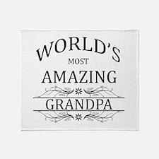 World's Most Amazing Grandpa Throw Blanket