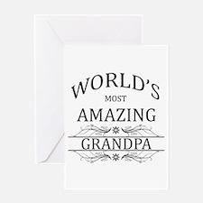World's Most Amazing Grandpa Greeting Card