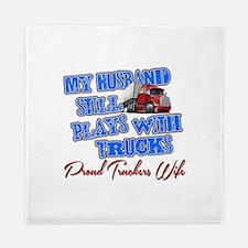 Husband Still Plays With Trucks Queen Duvet