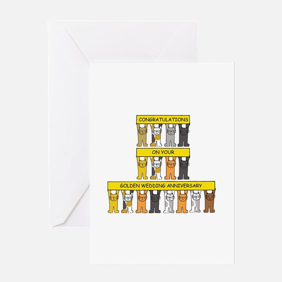 Golden Wedding Anniversary Greeting Cards