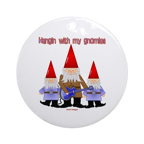 Hanging With My Gnomies Ornament (Round)
