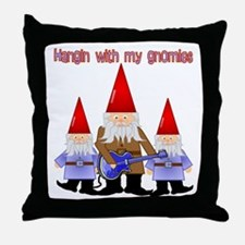 Hanging With My Gnomies Throw Pillow
