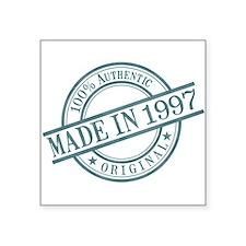"Made in 1997 Square Sticker 3"" x 3"""