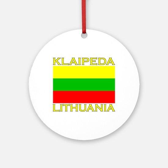 Klaipeda, Lithuania Ornament (Round)