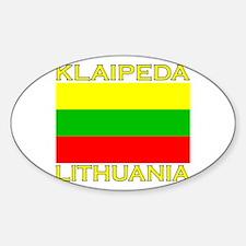 Klaipeda, Lithuania Oval Decal