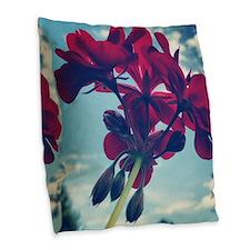 Geranium Burlap Throw Pillow