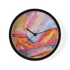 Desert landscape, southwest art Wall Clock