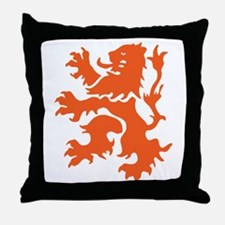 Netherlands Lion Throw Pillow