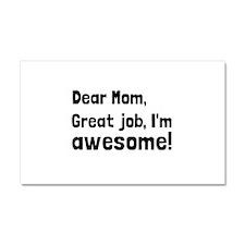 Mom Im Awesome Car Magnet 20 x 12