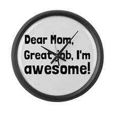 Mom Im Awesome Large Wall Clock
