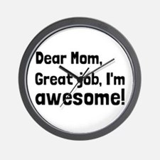 Mom Im Awesome Wall Clock