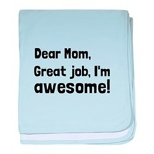 Mom Im Awesome baby blanket