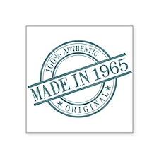 "Made in 1965 Square Sticker 3"" x 3"""