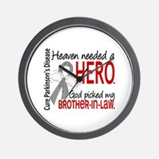 Parkinsons HeavenNeededHero1 Wall Clock