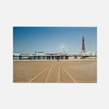 Blackpool central pier Rectangle Magnet
