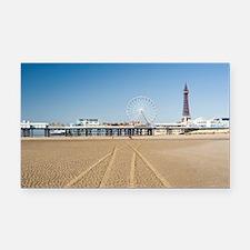 Blackpool central pier Rectangle Car Magnet