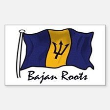 Bajan roots Rectangle Decal