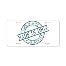 Made in 1962 Aluminum License Plate