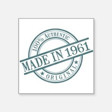 "Made in 1961 Square Sticker 3"" x 3"""
