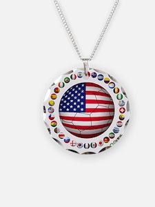 USA soccer Necklace