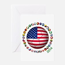 USA soccer Greeting Cards