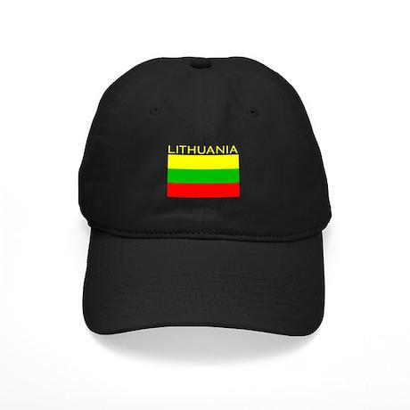Lithuania Flag (Dark) Black Cap