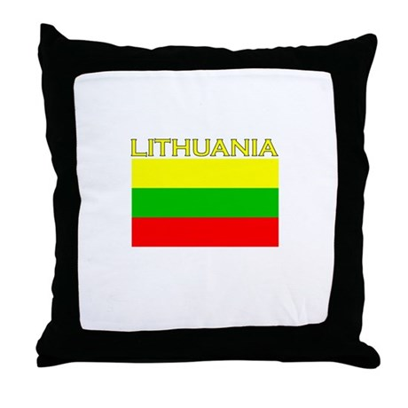 Lithuania Flag (Dark) Throw Pillow