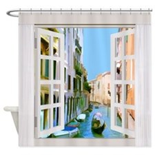 Street View in Venice Italy Shower Curtain