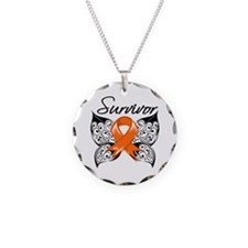 Multiple Sclerosis Survivor Necklace Circle Charm