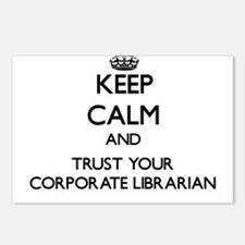 Keep Calm and Trust Your Corporate Librarian Postc