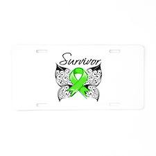 Lyme Disease Survivor Aluminum License Plate