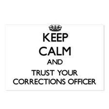Keep Calm and Trust Your Corrections Officer Postc