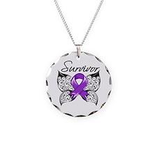 Lupus Survivor Necklace Circle Charm