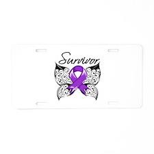 Lupus Survivor Aluminum License Plate