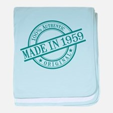 Made in 1959 baby blanket