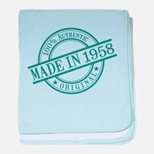Made in 1958 baby blanket